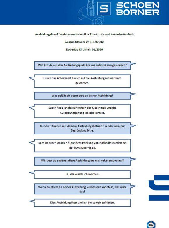 Interview Verfahrensmechaniker für Kunstoff- und Kautschuktechnik 1